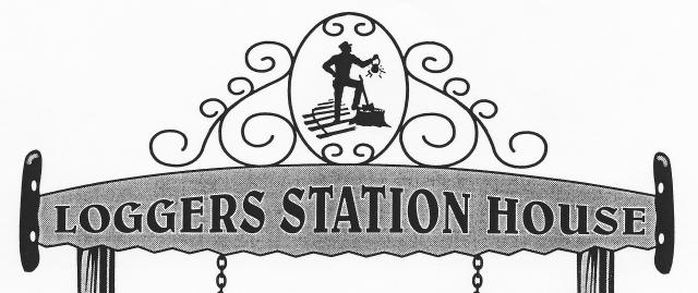 The logo for the Loggers Station House.